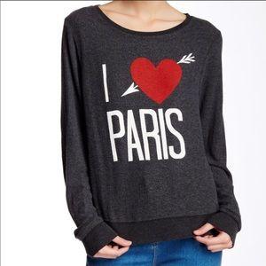 Wildfox Sweatshirt I ❤️ Paris